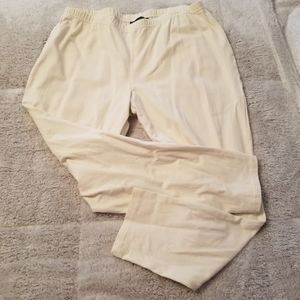 Cream colored pull on pants